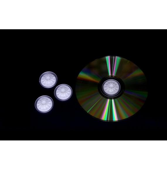PORTE CD-DVD CRISTAL INJECTE ROND ET ADHESIF