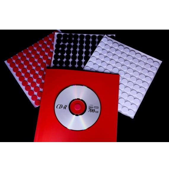 PORTE CD-DVD NOIR MOUSSE ADHESIVE