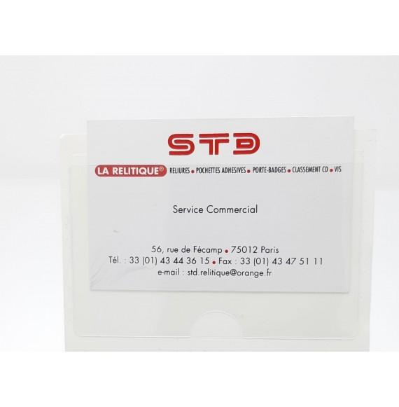 127072 - CARTE DE VISITE GRAND COTE 95 X 60 AVEC ENCOCHE