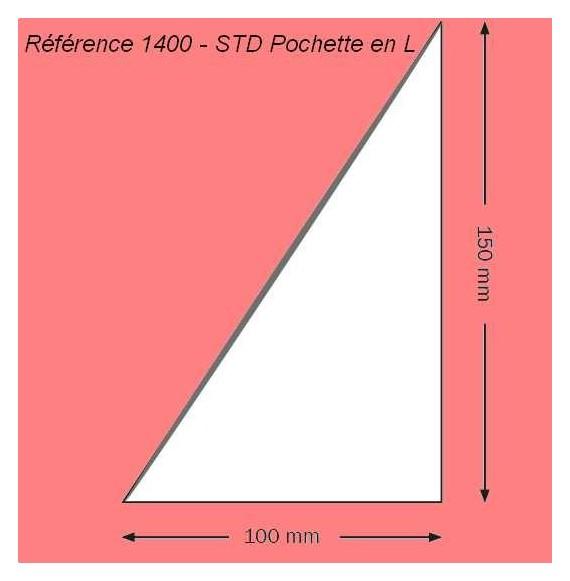 1400 - EN L 100 X 150 MM A GAUCHE