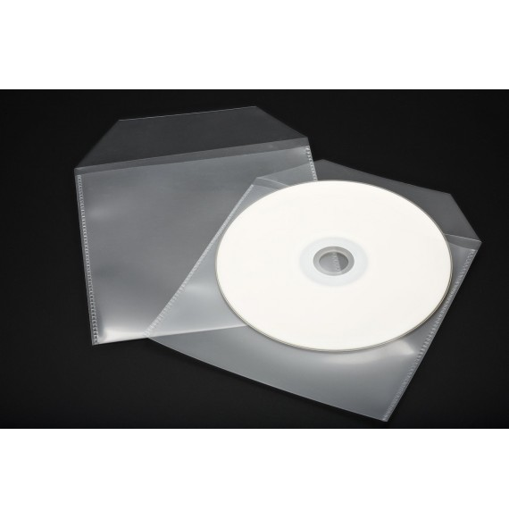 POCHETTE CD/DCVD NON ADHESIVE A RABAT 129 X 130