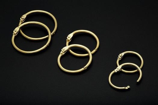 Anneau métal Doré