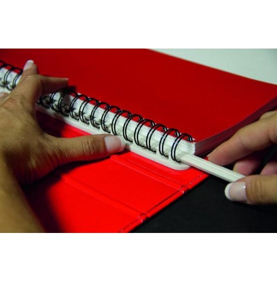 SOCLE DGS WIRE® A5 BLANC-reliure avec socle pour spirale