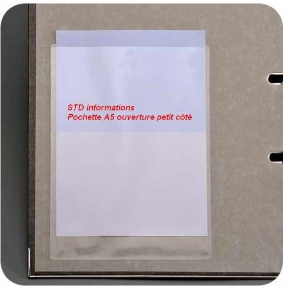 POCHETTE A5  PETIT COTE FORMAT 158 X 220
