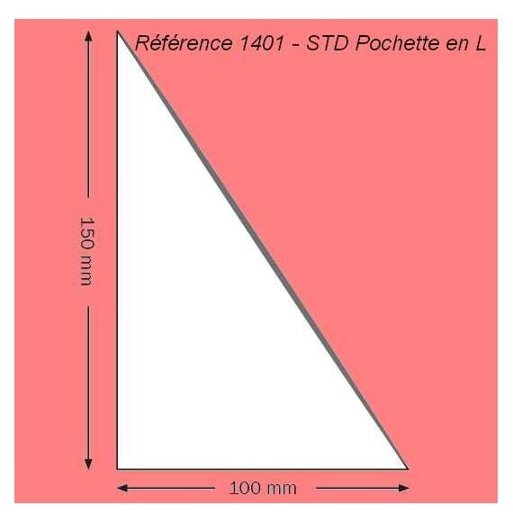 1401 - EN L 150 X 100 MM  A DROITE