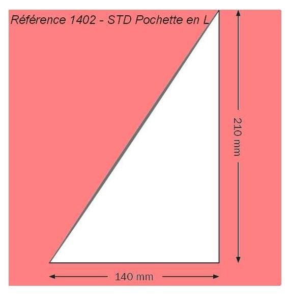 1402 - EN L 140 X 210 MM A GAUCHE