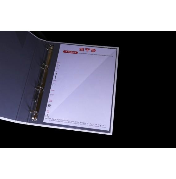 POCHETTE COIN 1/2 A4 EN L 215 X302 OUVERTURE A GAUCHE