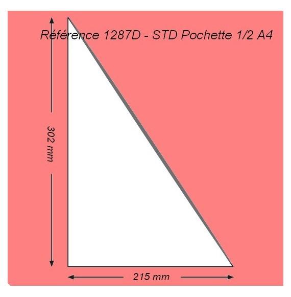 POCHETTE COIN 1/2 A4 EN L 302 X 215 OUVERTURE A DROITE