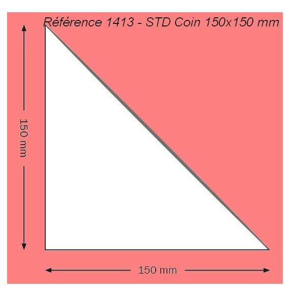 POCHETTE 1413 COIN 150 X 150