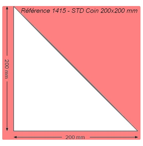 POCHETTE 1415 COIN 200 X 200