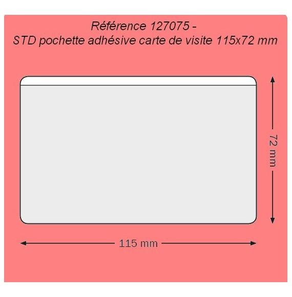 127075 - CARTE DE VISITE 115 X 72 MM GRAND COTE