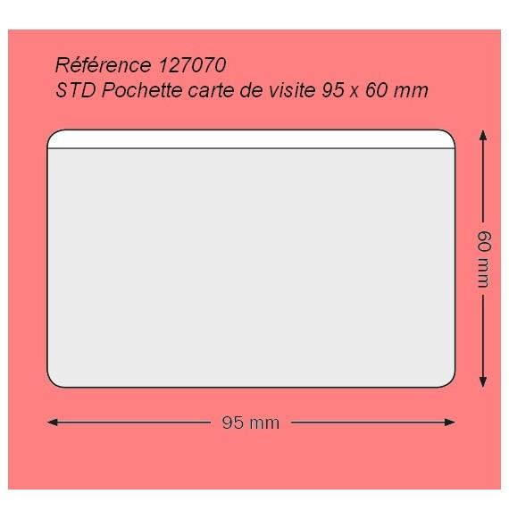POCHETTE CARTE DE VISITE 95 X 60 GRAND COTE