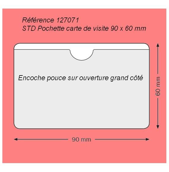 127071 - CARTE DE VISITE GRAND COTE 90 X 60 AVEC ENCOCHE