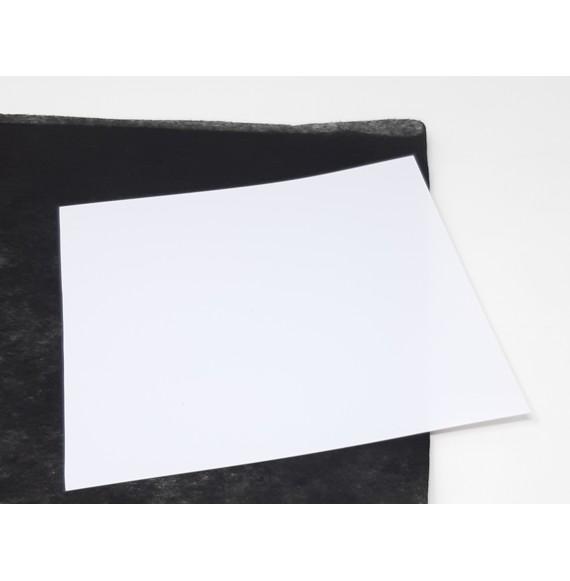FEUILLES PVC BLANC MAT 2 FACES 200µ - 700X1000 MM