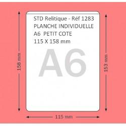 1283 - A6  PETIT COTE 115 X 158 MM PAR 100 EN PLANCHE INDIVIDUELLE