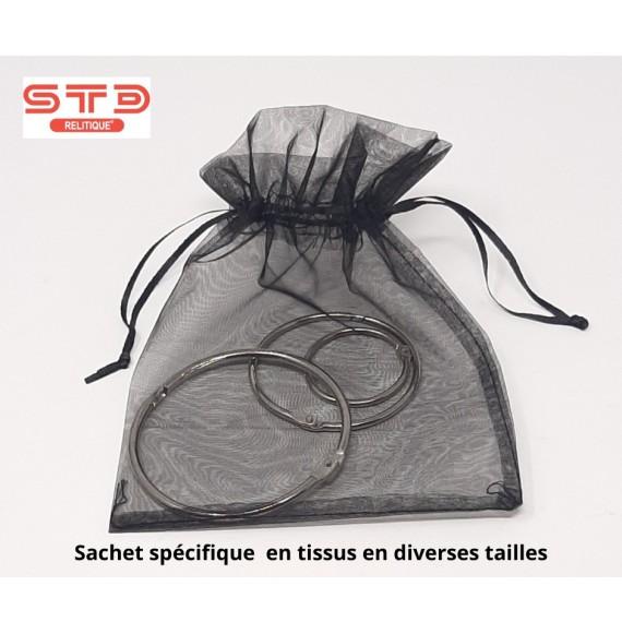 Sac Cadeau Tissus NOIR 100 x 150 mm