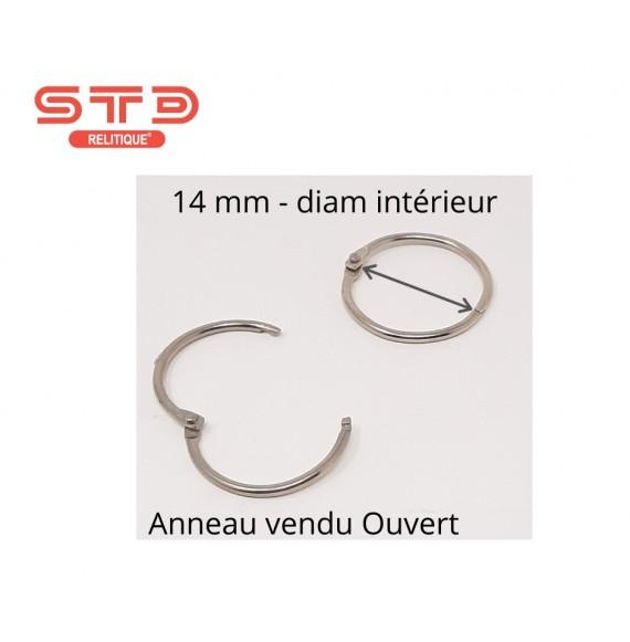 Anneau Métal Nickelé 14 mm