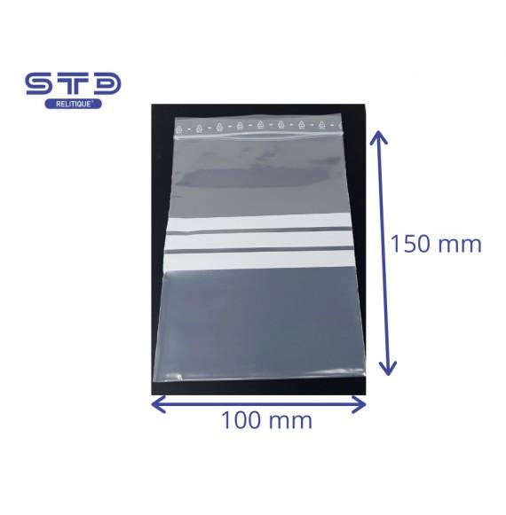 Sachet ZIP Bandes 100 x 150 mm