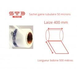 Gaine PE 50 microns laize 400 mm - longueur 500 mètres