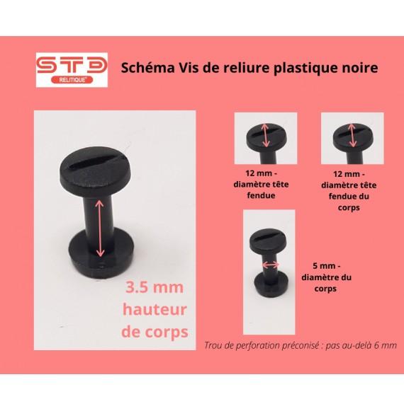 VIS PLASTIQUE NOIRE 3,5 MM