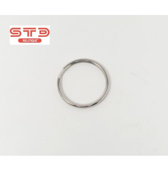 Anneau Porte-clé Métal Nickelé 16 mm