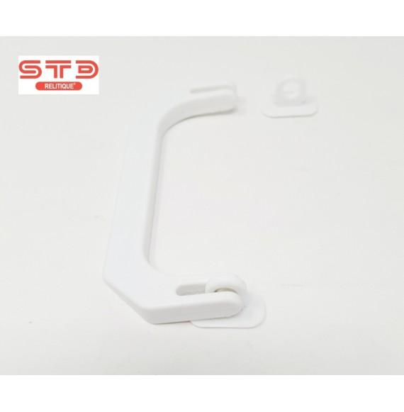 POIGNEE PLASTIQUE RIGIDE BLANC 118 X45X9 MM PAR 1000