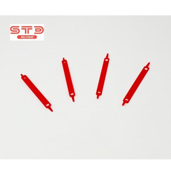 Relieur Compresseur Plastique Rouge 80 MM PAR 100