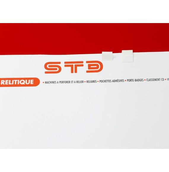 RELIEUR CLIP PLASTIQUE BLANC PAR 1000