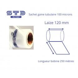 Sachet Gaine PE 100µ laize 120 mm - longueur 250 mètres