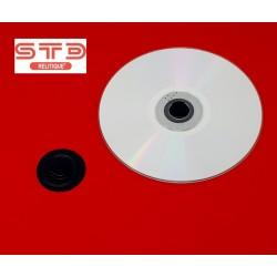 CENTREUR PORTE CD-DVD 35 MM NOIR Thermoformé adhésif PAR 100