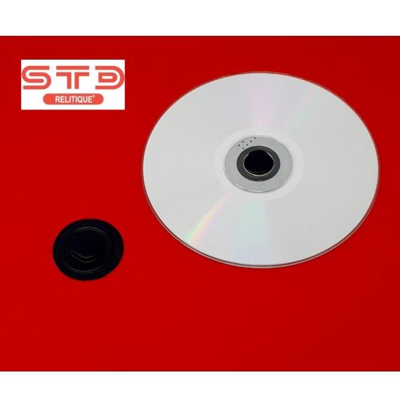 CENTREUR PORTE CD-DVD 35 MM NOIR Thermoformé adhésif