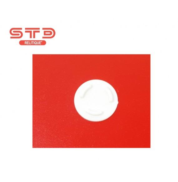 PLOT BLANC CD/DVD INJECTE ADHESIF 20 MM