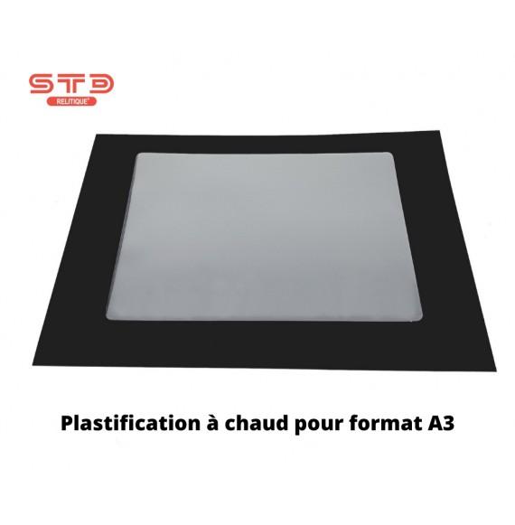 POCHETTE DE PLASTIFICATION A CHAUD 2 FACES BRILLANTES 80microns A3 PAR 100